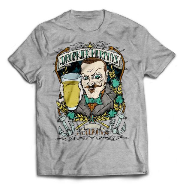 футболка серая Dropkick Murphys