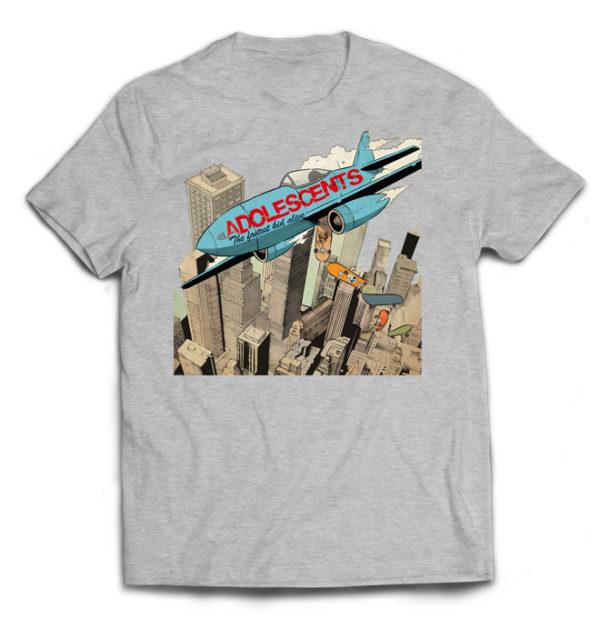 футболка серая Adolescents