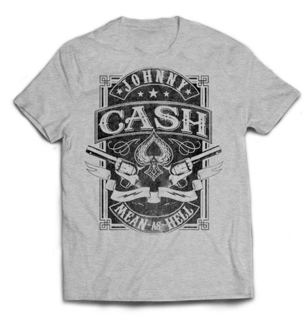 футболка серая Johnny Cash +++