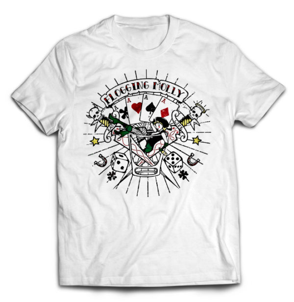 футболка белая Flogging Molly