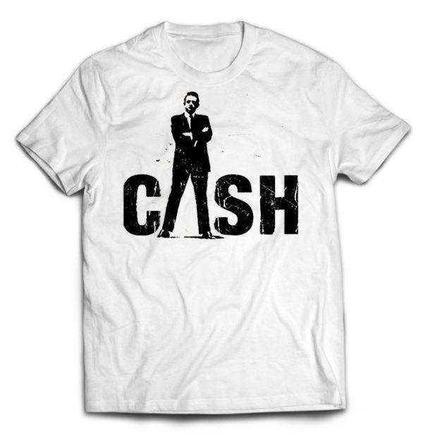 футболка белая Johnny Cash +++