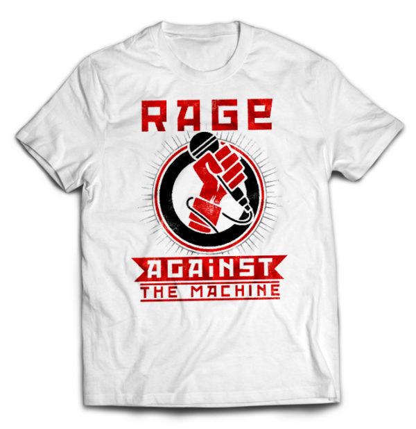 футболка белая Rage Against The Machine