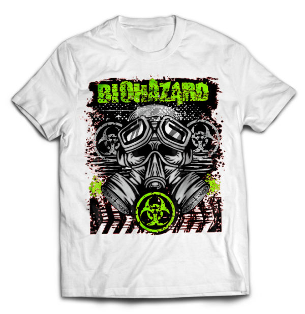 футболка белая Biohazard
