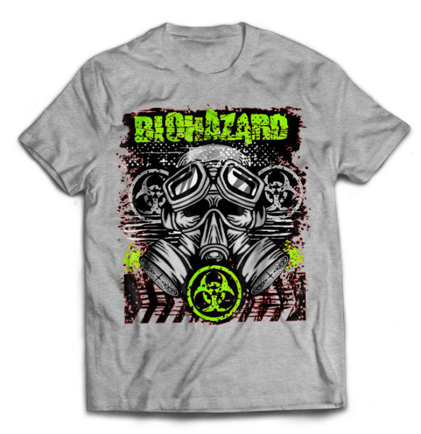 футболка серая Biohazard