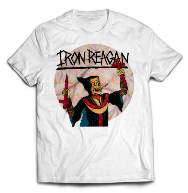 футболка белая Iron Reagan