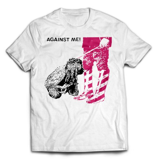 футболка белая Against Me