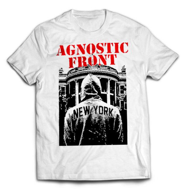 футболка белая Agnostic Front