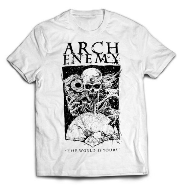 футболка белая Arch Enemy
