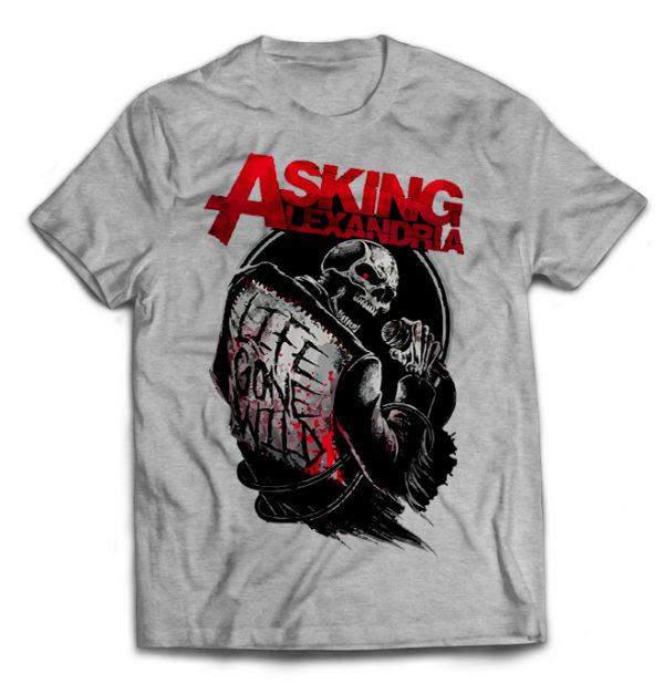футболка серая Asking Alexandria