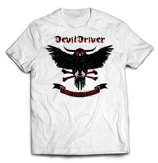 футболка белая DevilDriver