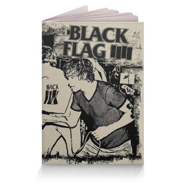 Обложка на паспорт Black Flag